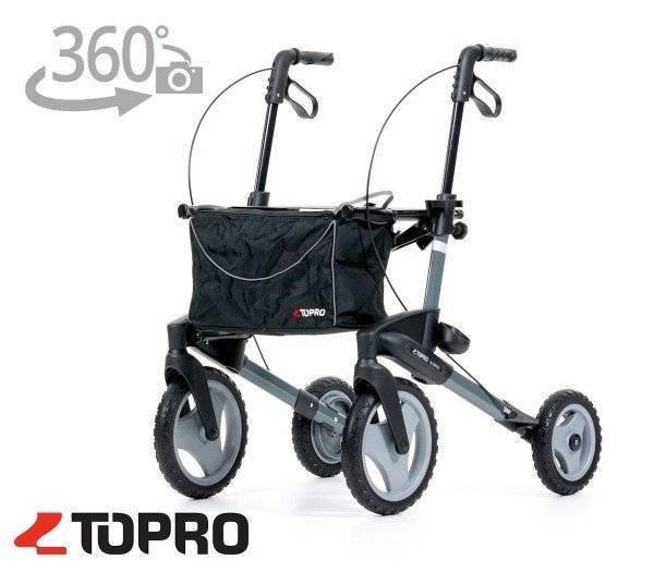 TOPRO Outdoor-Rollator Olympos mit 360 Grad-Ansicht im rehashop.ch