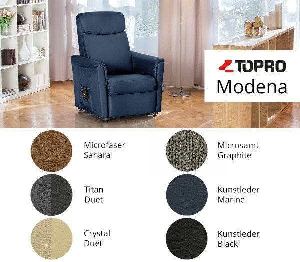 TOPRO Ruhe- und Aufstehsessel Modena - Farbvarianten