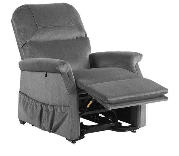 Bimotoriger Komfort Premium Relaxsessel von GOLDEN in der Relaxposition und derFarbe Maulwurf