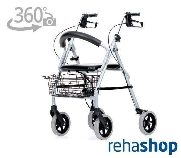 REHASHOP Leichtgewichtrollator Vigeo mit 360 Grad-Ansicht im rehashop